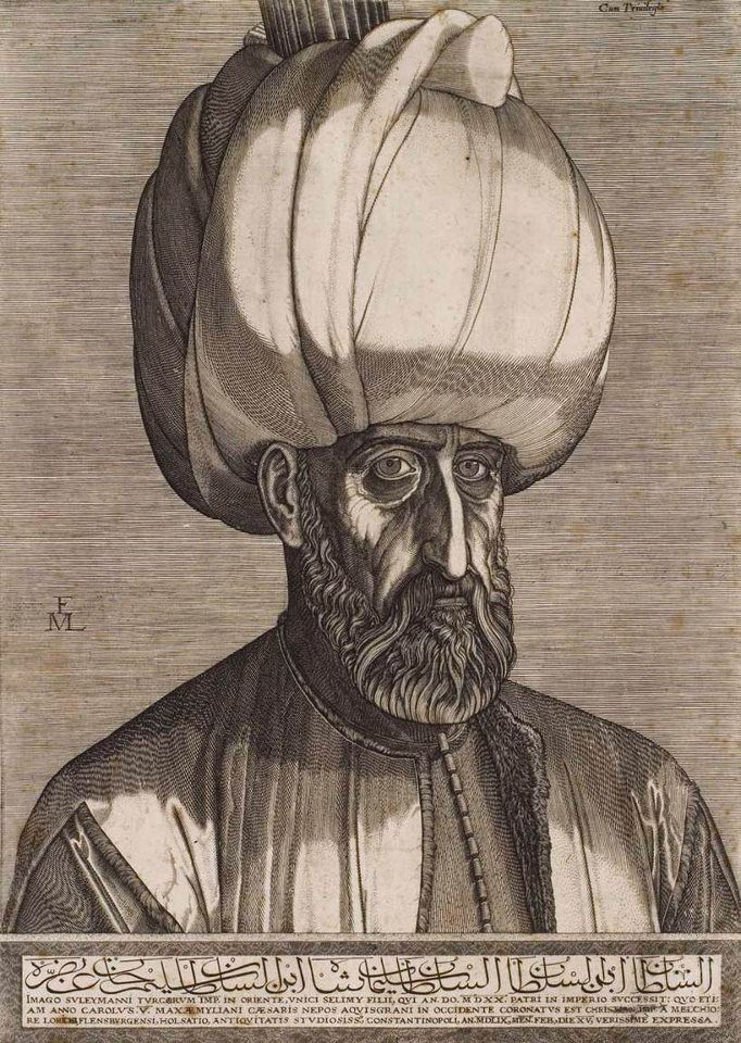 Melchior Lorck - Portrait of Sultan Suleyman the Magnificent, 1559