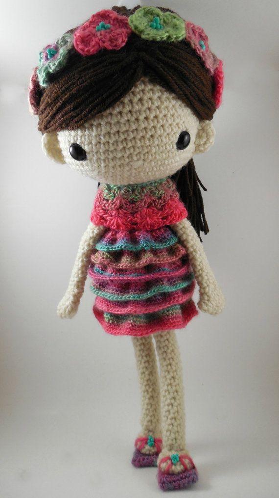 Amigurumi Doll Pdf : Claudia amigurumi doll crochet pattern pdf by carmenrent