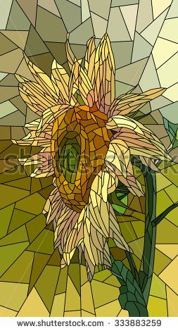 Sunflower Bud Stock Vectors & Vector Clip Art | Shutterstock