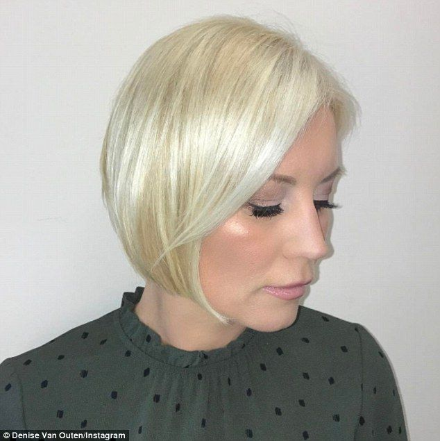 Stunning: Denise shared a snap of her new locks on Instagram captioned 'New hair! Thanks @alfieoneill_ & @pauledmonds217 for making me go for this style. Love the cut & colour'