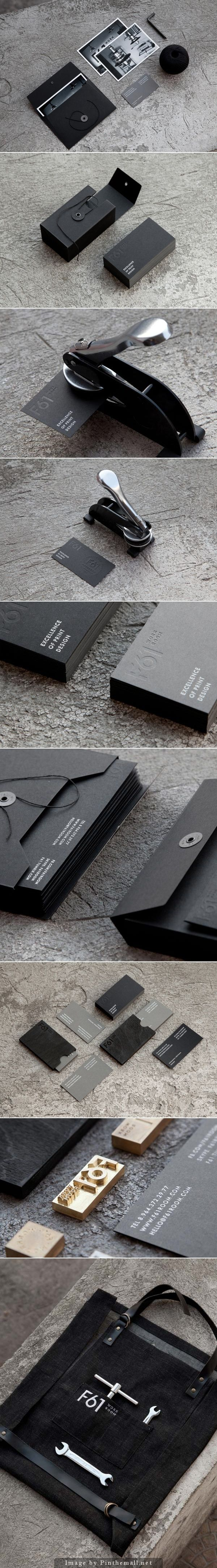 F61 Work Room – Printing Studio Brand Identity *nice minimalism, but what this is about is the embossing*