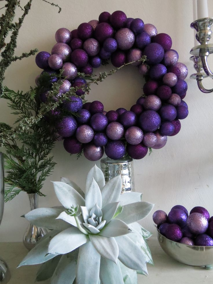 Purple Balls For Decoration 429 Best Purple For Christmas Images On Pinterest  Xmas