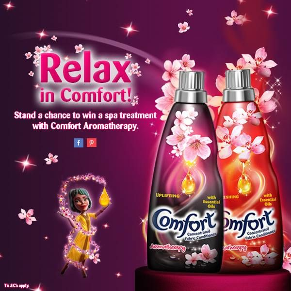 Winning a spa treatment is as easy as  1. Like Comfort SA on Facebook > https://www.facebook.com/ComfortZoneSouthAfrica  2. Follow Comfort SA on Pinterest > http://www.pinterest.com/comfortzoneza/  3. Enter the correct clue > http://woobox.com/zve8fy