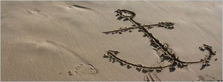 Drawn Anchor On The Sand Beach Facebook Covers - myFBCovers