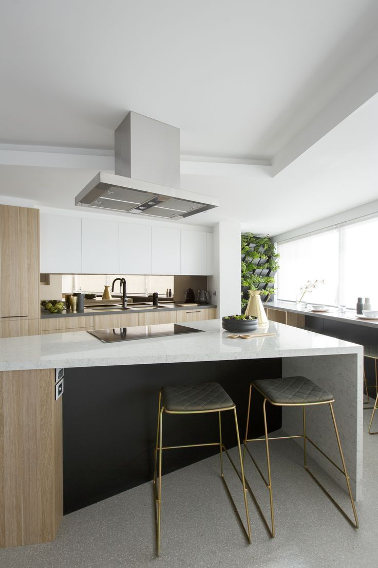 Modern white kitchen from the tv show The Block