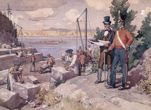 Colonel By watching the building of the Rideau Canal, 1826 / Le colonel By surveillant la construction du canal Rideau, 1826 | by BiblioArchives / LibraryArchives