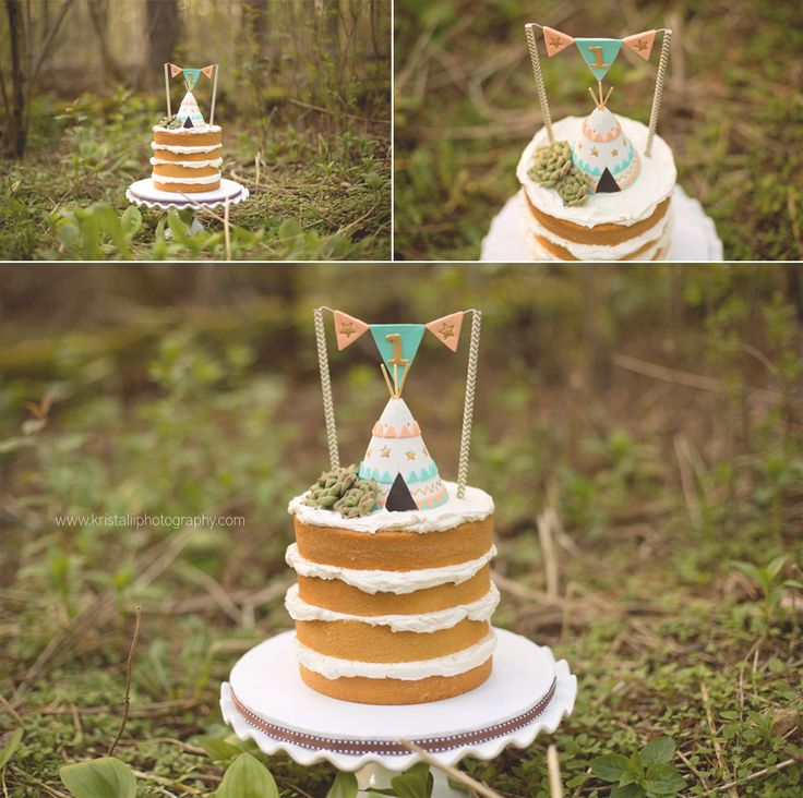 Forest 'Wild Thing' Baby Smash Cake toronto-newborn-baby-photographer