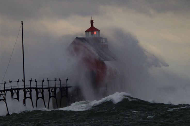 Grand Haven Pier in Grand Haven, Mich. at 5:30 p.m. on Thursday, Nov. 12, 2015.(Joel Bissell   MLive.com)