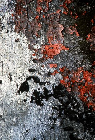 Lucien Hervé, texture inspirations, grey, red and black | See more inspirations at: http://www.brabbu.com/en/inspiration.php #Cracks #Colors #Destruction