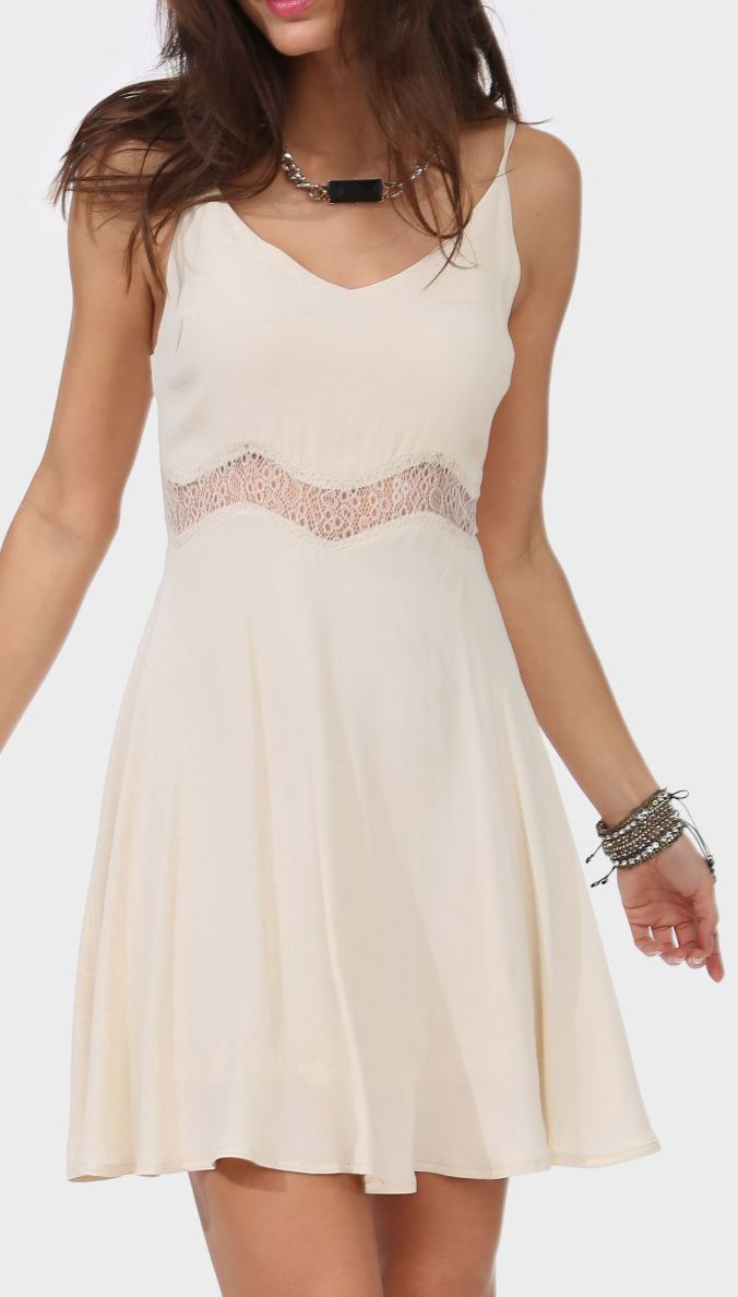 Not a fan of lace, but this is so cute!  Hayden Lace Dress