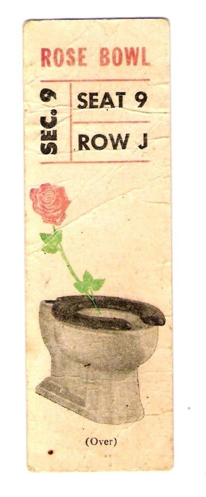 Vintage Rose Bowl Ticket