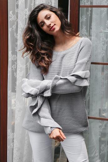 Natalie Ruffle Knit