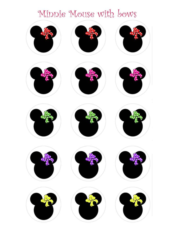 Image detail for -minnie mouse with bows animal print minnie mouse minnie and mickey ...