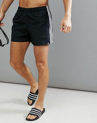 93b11e81703d2b adidas Swim Shorts With Stripes In Black CV5137 - Photoset.