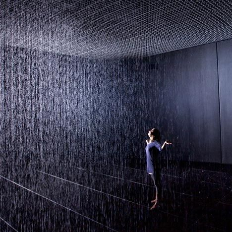 Rain Room by rAndom International at the Barbican. Free exhibition, but the queues are around 2hrs plus at the moment. I still want to go though.
