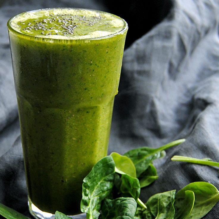 Grön smoothie. Foto och recept: Sofia Henriksson.