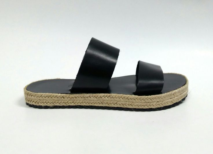 Diope_ Black Handcrafted leather sandals