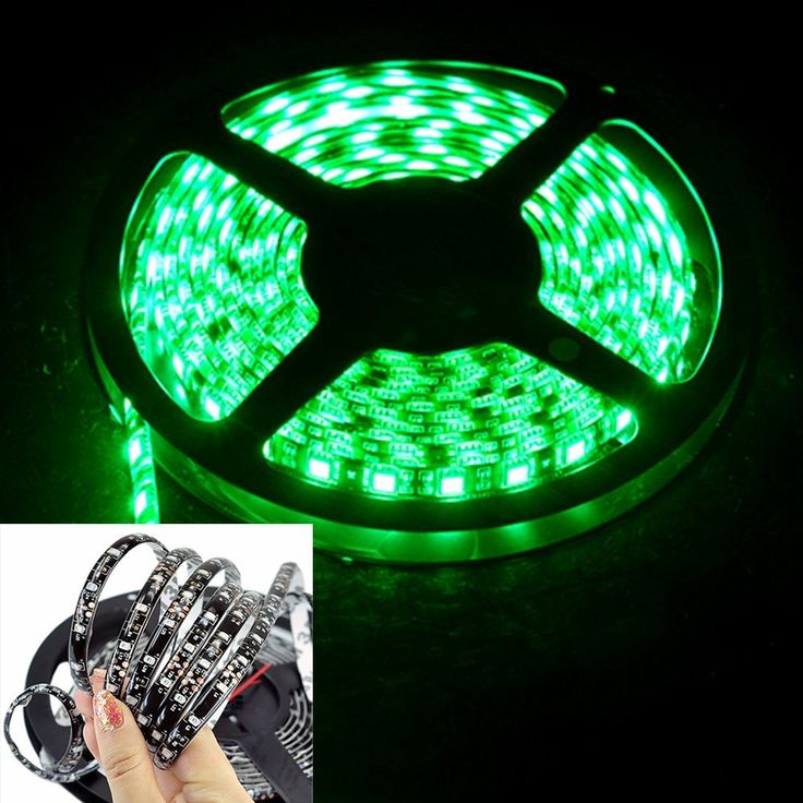 FAVOLCANO 16.4ft 5M 300Leds Waterproof Green Led Strip Light 3528 DC12V 60Leds/M Black PCB Fiexble Light Led Ribbon Tape Home Decoration Lamp ^^ Remarkable product available now. : DIY : Do It Yourself Today
