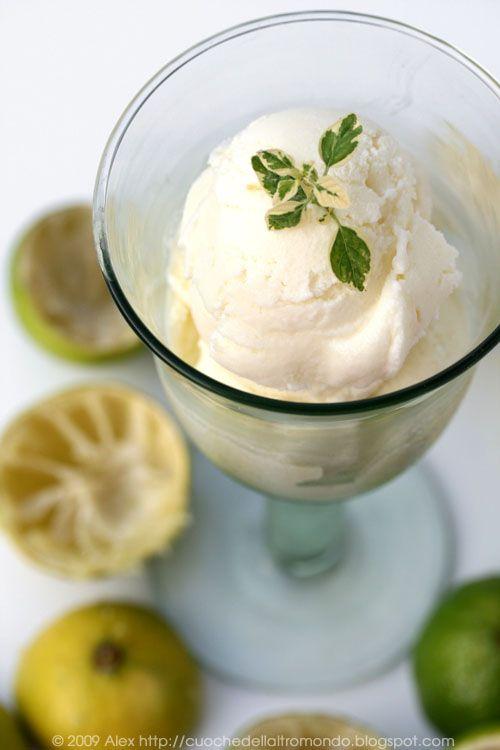 Mascarpone-Limetten-Eis