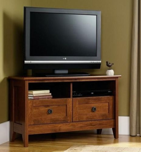 tv credenza stand center cabinet furniture mission style table ebay