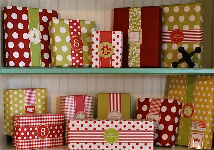 No Bow gift wrapping.Paper Ribbons, Polka Dots, Gift Wrapping, Gift Wraps, Wraps Gift, Christmas Gift, Christmas Wraps, Christmas Wrapping, Wraps Ideas
