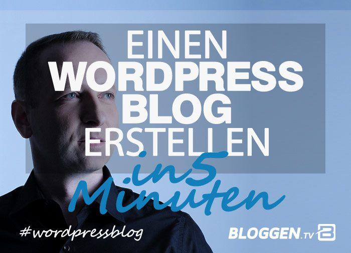WordPress Blog erstellen in 5 Minuten – Schritt für Schritt Anleitung. Du möchtest deinen WordPress Blog erstellen in 5 Minuten oder schneller? In dieser Schritt-für-Schritt-Anleitung zeige ich wie es geht.  http://www.bloggen.tv/wordpress-blog/  #wordpre