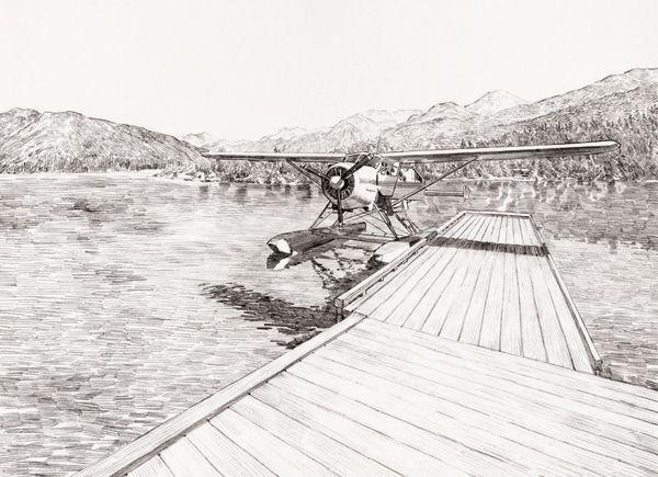 In-store material for Peak Performance. Illustration by Graham Samuels.