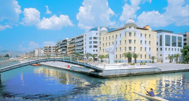 amazing view of the harbor of Volos,Greece