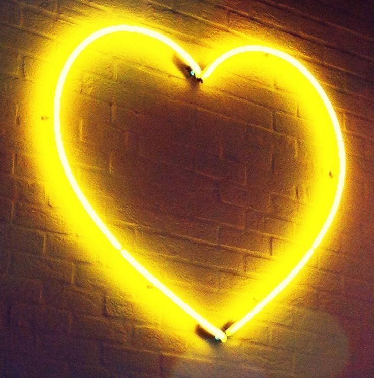 Yellow Neon Sign Heart Neon Neonsign Yellow Colourfulhome Shades Of Yellow Color Yellow Aesthetic Yellow Painting