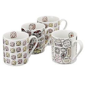 by Sainsbury's Sweet Treats Mug Set 4-Pack