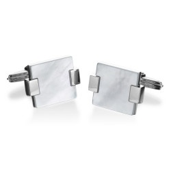 Alfred Dunhill - Wafer with White Mother of Pearl Cufflinks