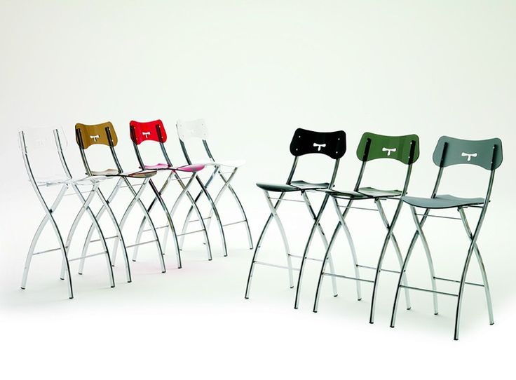 Tabouret haut pliante OPLÀ SGABELLO by Ozzio Design | design Gaetano Poratelli, Studio Pizeta