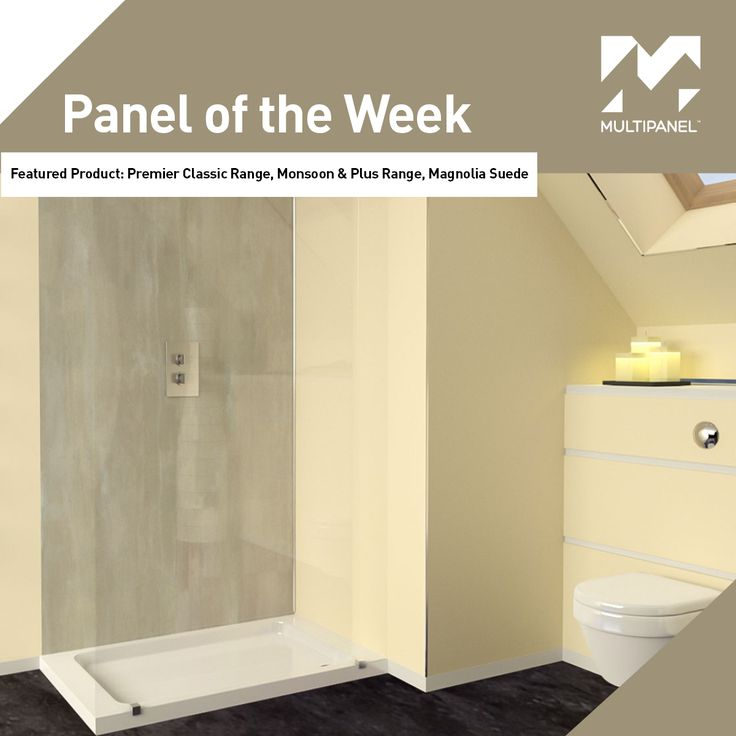 """Panel of the Week!  This week our featured #paneloftheweek is our Premier Classic Range, Monsoon & Plus Range, Magnolia Suede panels.  """"Don't tile it, Multipanel it"""""""