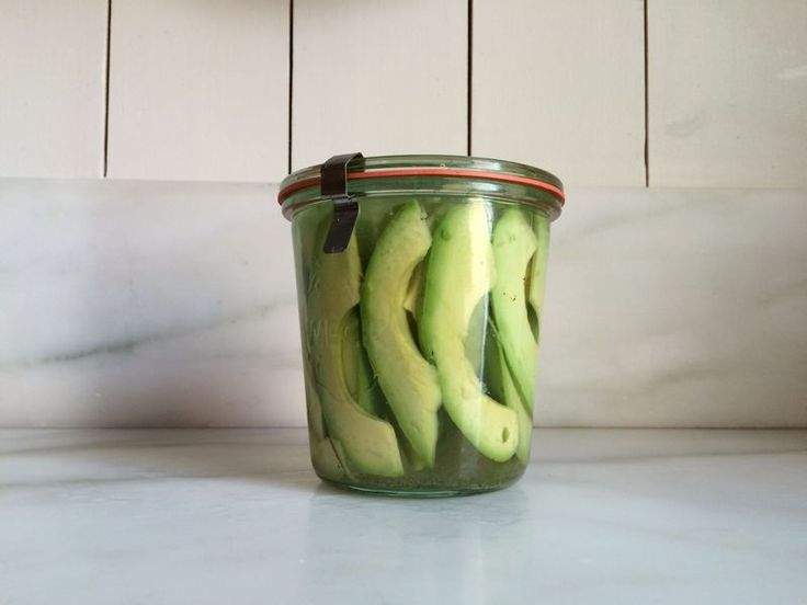 We heard a suggestion to pickle unripe avocado slices and we had to try it ourselves.
