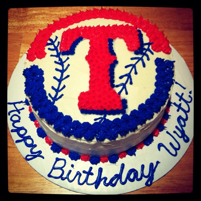 Well, had to add it to Pinterest! Texas Ranger Cake!