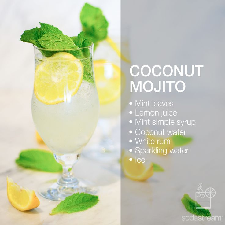 COCONUT MOJITO | • Mint leaves • 15ml Lemon juice • 15ml Mint ...