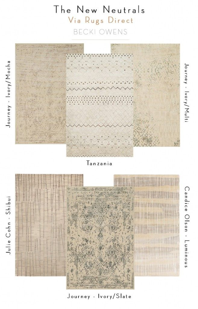 Decorating Trend: The New Neutrals | Rugs Direct + Becki Owens
