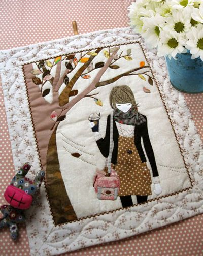 How to DIY Fabric Wall Art of a Girl Under the Tree -- via wikiHow.com