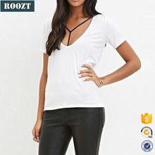 Lightweight womens sexy slim fit white plain v neck t shirts  Best buy follow this link http://shopingayo.space
