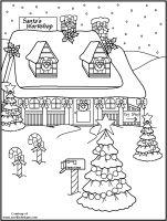 free santa workshop coloring pages - photo#22