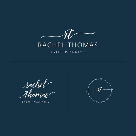 Logo Design, Circle Logo, Branding Package, Premade Branding, Business Logo, Initials Logo, Premade Logo, Brand Identity, Event Planning