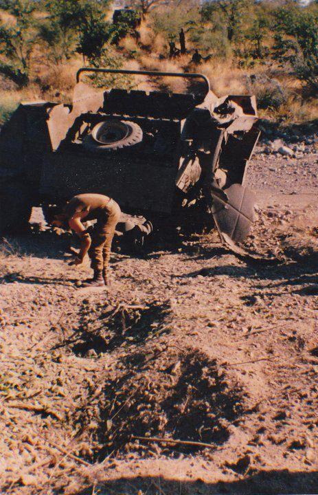 Landmine 10km south of Epupa falls Kaokoland