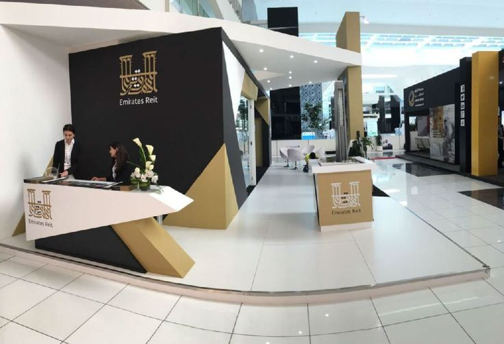 A design for Emirates Reit stand at Cityscape Abu Dhabi Exhibition 2016
