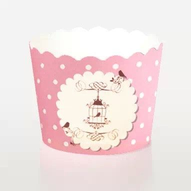 50 pcs Pinky Garden with Dot Paper Muffin Cups Baking Cups Candy Nut Popcorn Cups Ice-cream Cups on Etsy, $47.69 HKD