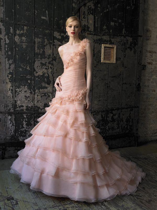 Kleinfeld colored wedding dresses