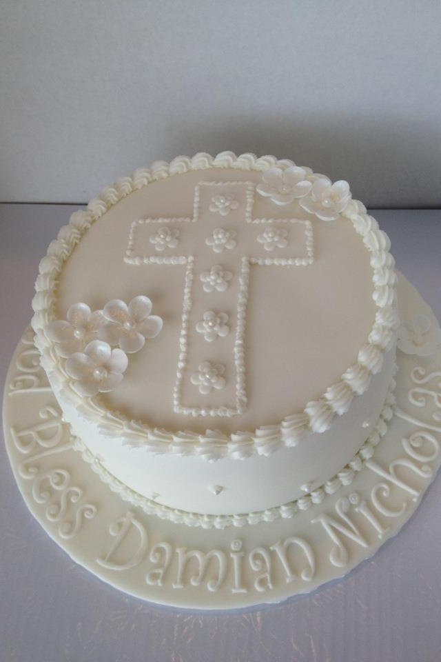Baptism cake - without the edging.