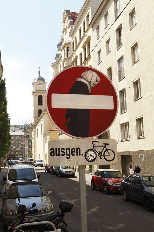 Street Artist Conveys Message Through Modified Stop Signs - DesignTAXI.com