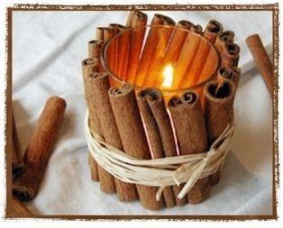 noticias 24h decoracion arte bricolaje: Canela para decorar velas.