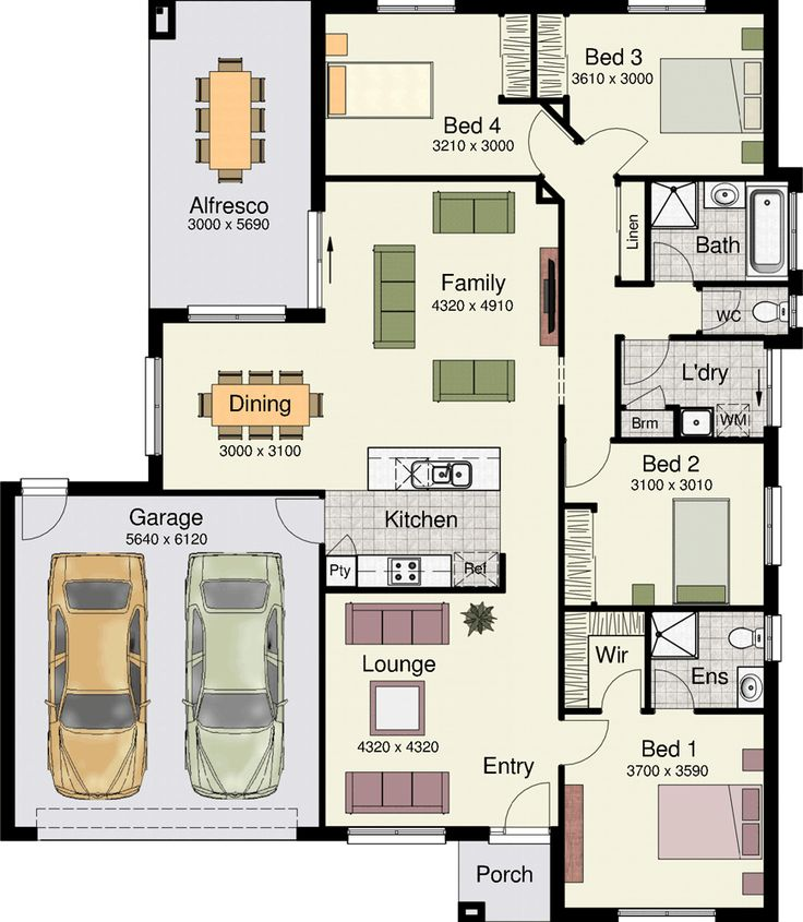 This floorplan is simple but perfect. Leneva 208 by Hotondo Homes