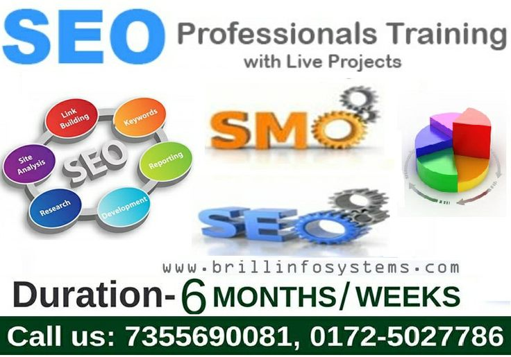 Brill Infosystems is the best company offering #SEO training in #Chandigarh. Get 100% guarantee of job opportunity with live project based #training in SEO, SMO and PPC!